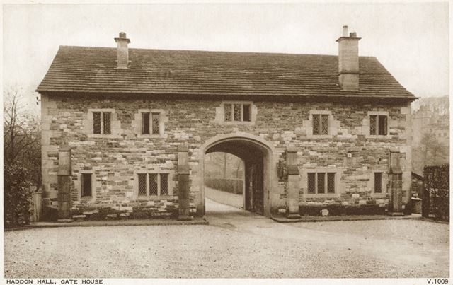 The Gatehouse, Haddon Hall, Bakewell, c 1910s