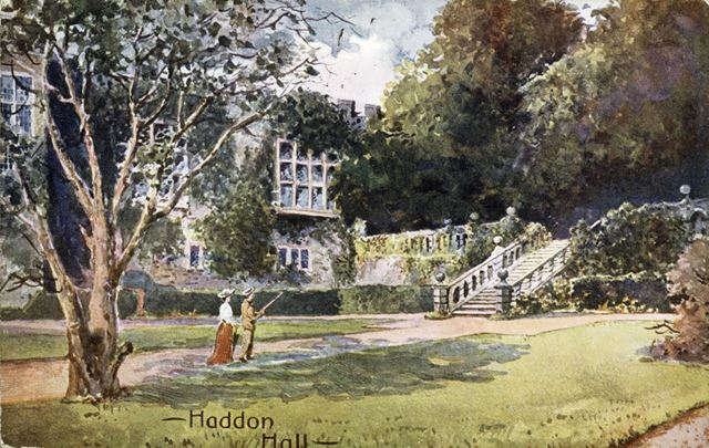 The Gardens, Haddon Hall, Bakewell, c 1900s