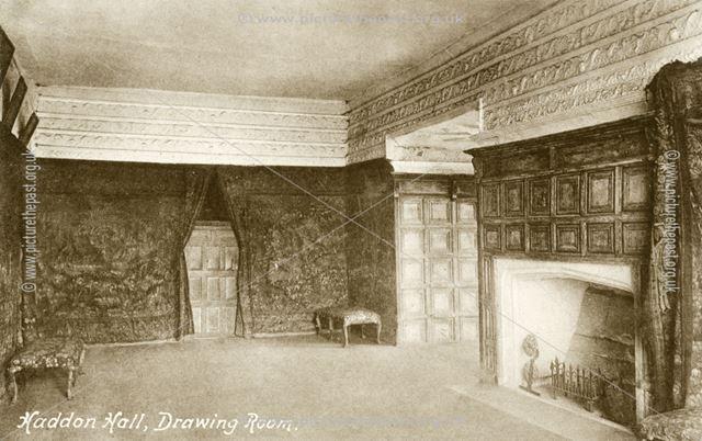 The Drawing Room, Haddon Hall, Bakewell, c 1903