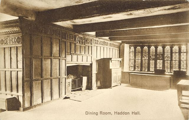 The Dining Room, Haddon Hall, Bakewell, c 1900s-1920s