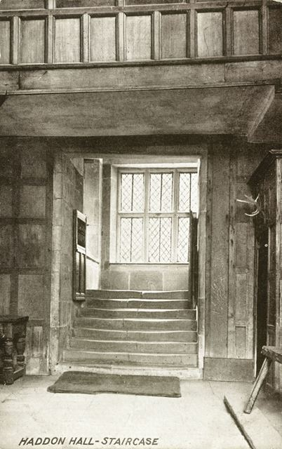 The Staircase, Haddon Hall, Bakewell, c 1900s-1920s