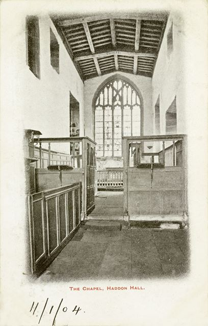 The Chapel, Haddon Hall, Bakewell, c 1900s