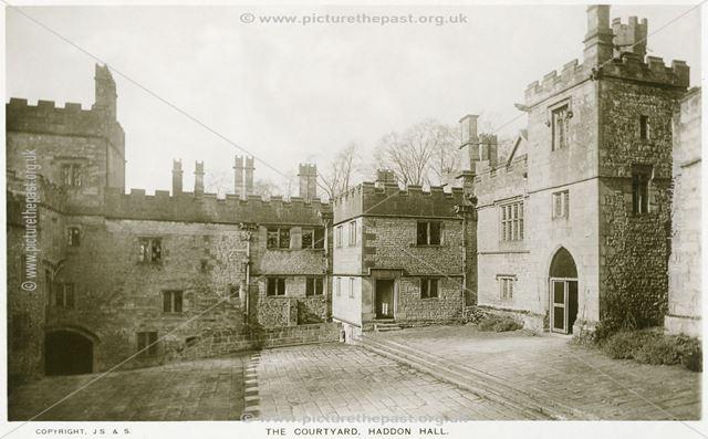 The Courtyard, Haddon Hall, Bakewell, c 1910