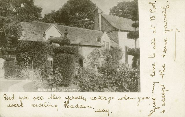 The Cottage at Haddon Hall, Bakewell, c 1900
