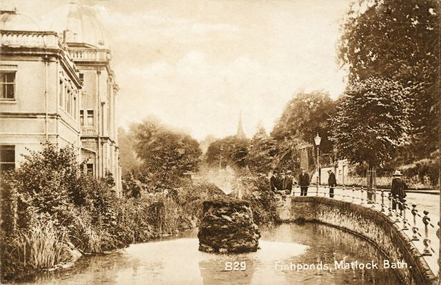 The Fish Pond, South Parade, Matlock Bath, c 1900s