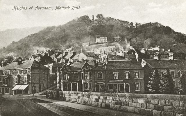 Heights of Abraham, junction of Dale Road and North Parade, Matlock Bath, c 1900s
