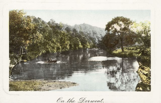 River Derwent between Matlock and Matlock Bath, c 1900s