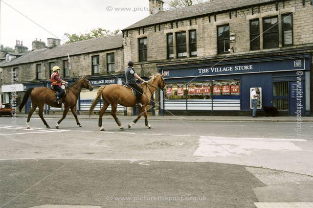 Outside Co-op Village Stores, Buxton Street, Whaley Bridge, c 2000