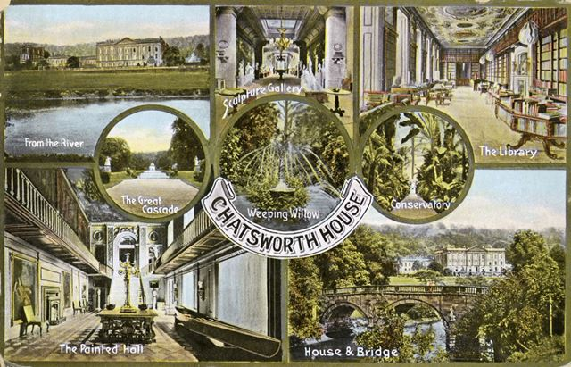8 views of Chatsworth House and Gardens, c 1920s