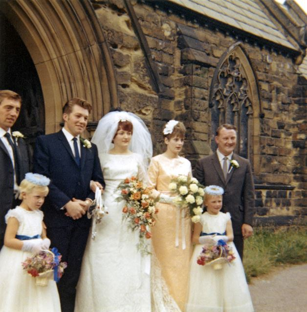 Wedding of Marie Partlow and Colin Taylor, All Saints Church, Church Lane, Heath, 1966