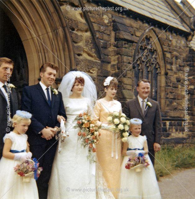 Wedding of Marie Partlow and Colin Taylor, All Saints Church, Church Lane, Heath, 1966