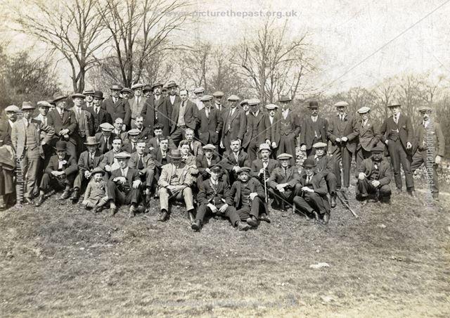 Egston Working Men's Club outing to Ashover on Ashover light railway, 1925/26