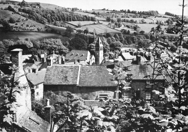 View of Wirksworth from Green Hill, c 1986