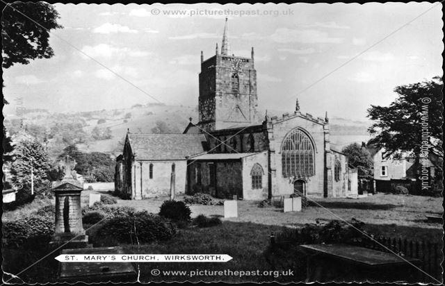 St Mary's Parish Church, Church Lane, Wirksworth, c 1910s?