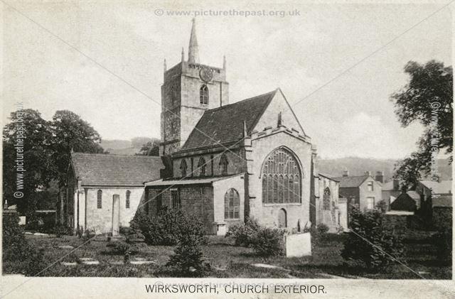 St Mary's Parish Church, Church Lane, Wirksworth, c 1910?