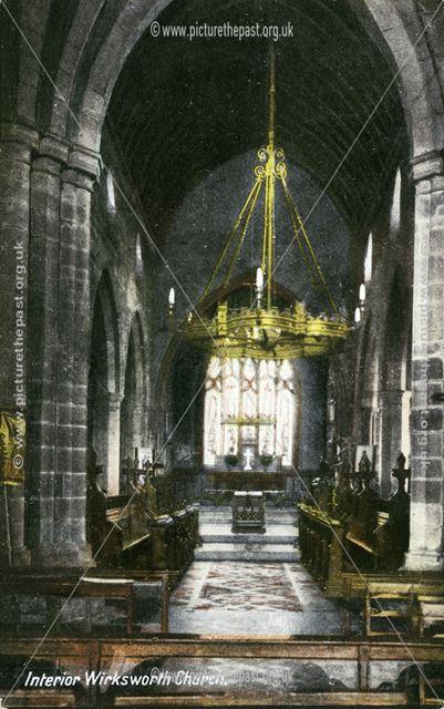 Chancel in St Mary's Church, Church Street, Wirksworth, c 1920s