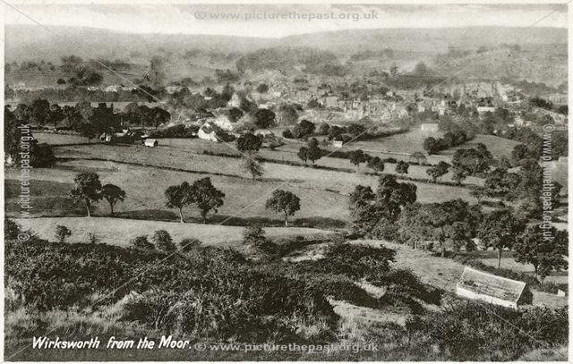 Wirksworth from Wirksworth Moor, c 1930s