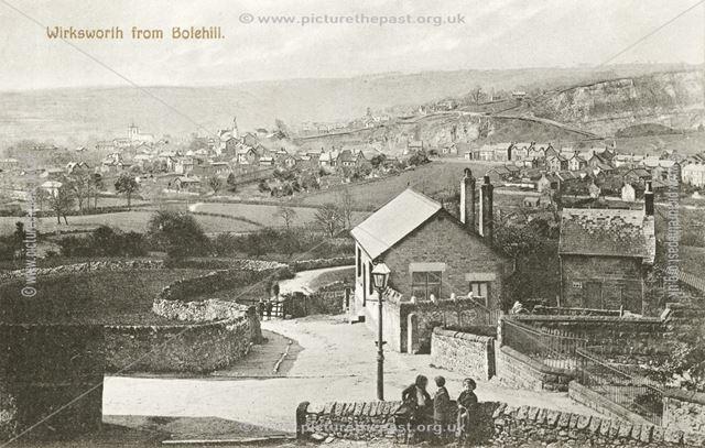 View of Wirksworth from Bolehill, c 1900s