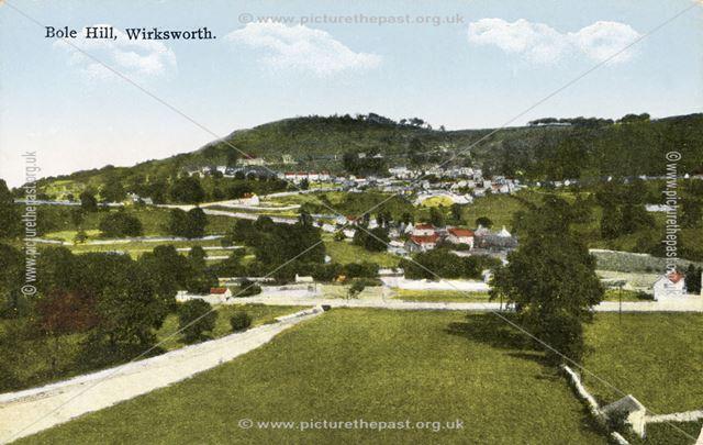 View of Bolehill, Wirksworth, c 1900s