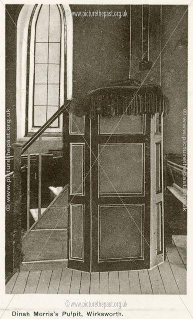 Dinah Morris' Pulpit, Methodist Chapel, Wirksworth, c 1920s
