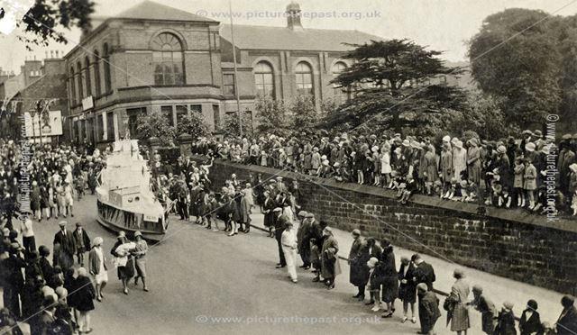 Carnival Ship in King Street, Belper, c 1931