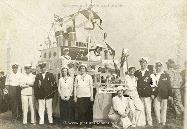 Helpers with Carnival Ship, Belper, 1932
