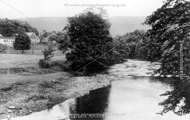 The River Derwent at Ashopton, c 1920s