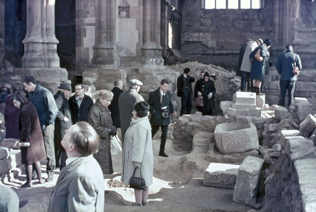 Demolition of St Alkmund's Church, Derby, c 1965
