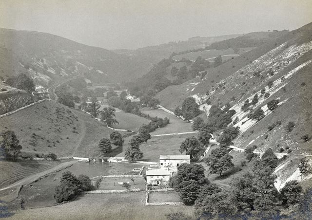 General view of Monsal Dale, c 1920s?