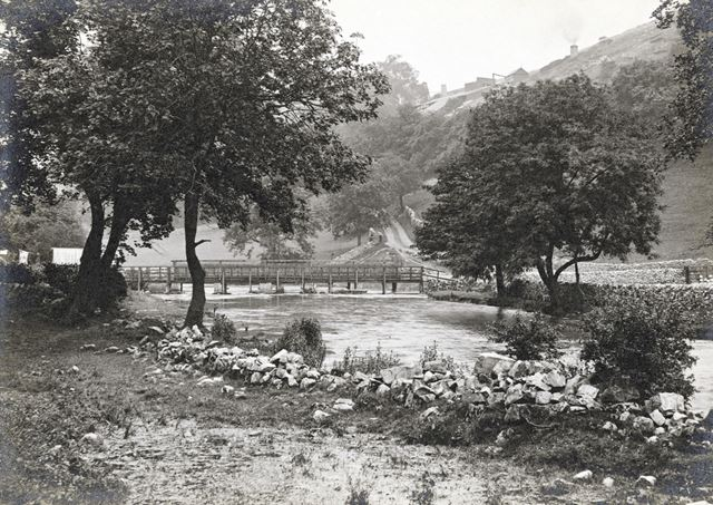 Bridge over the River Wye Monsal Dale, c 1920s?