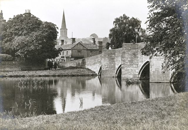 Bakewell Bridge over the River Wye, Bridge Street, Bakewell, c 1930s?