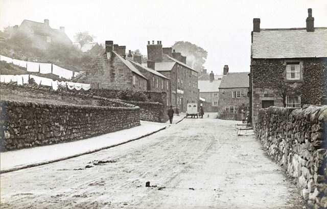 View towards village, Sandy Lane, Crich, c 1930s?