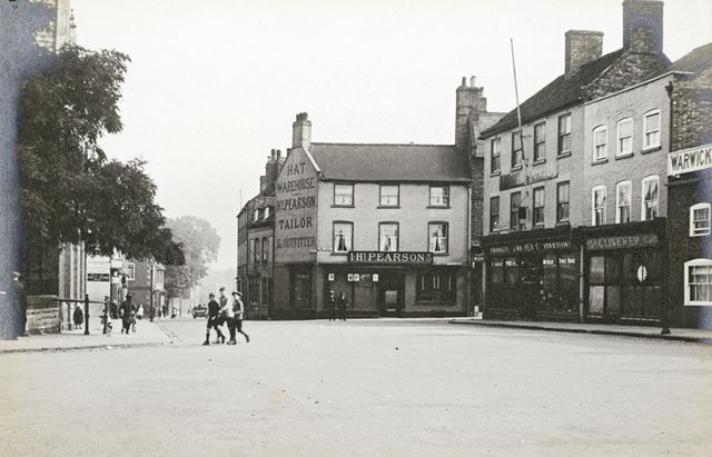 Castle Gate Looking North into Bar Gate, Newark on Trent, 1930s ?