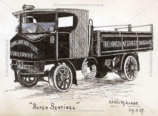 Long Rake Spar Company Lorry, Long Rake, Youlgreave, 1927