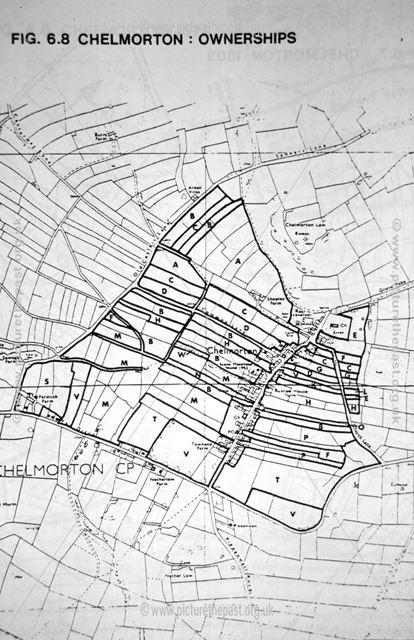 Map showing field ownerships, Chelmorton, Buxton