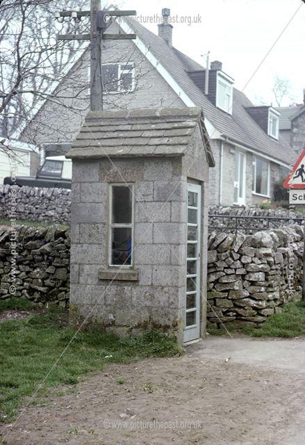 Telephone box, Chelmorton, Buxton, 1976