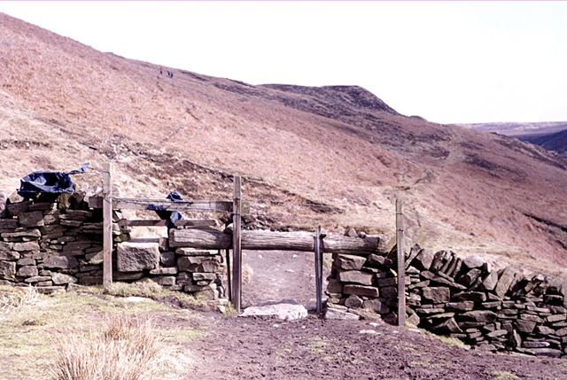 Remains of Danebower Colliery, Dane Valley, 1976