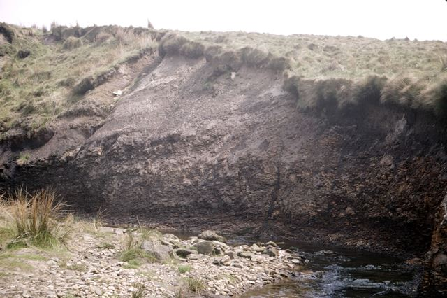 River cliff in shale, River Dane, Dane Valley, 1972