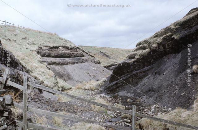 Coal measure shales, near Orchard Farm, Dane Valley, c 1970s