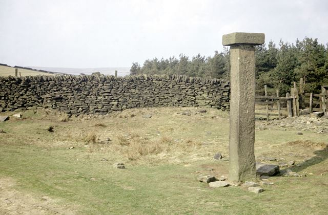 Remains of cross on Roman Road, Hope Cross, Woodlands Valley, 1972