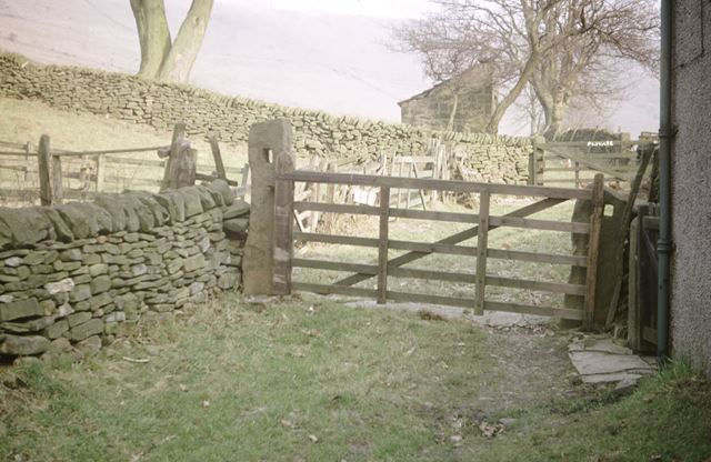 Remains of Crosses used on Gate Posts, Edale End, Edale, 1972