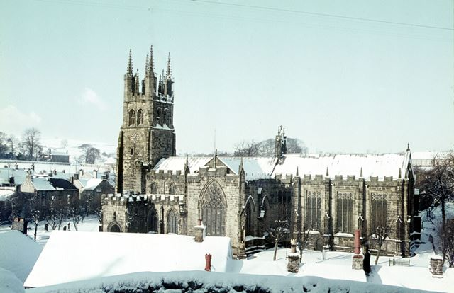 Tideswell Church, 'The Cathedral of the peak', Tideswell, Buxton, 1965