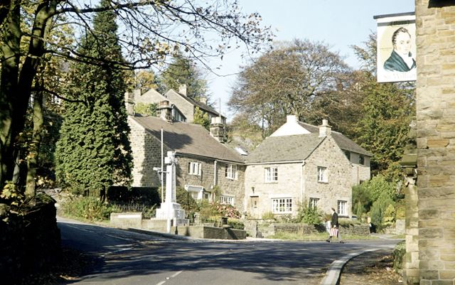 Grindleford Village, Hope Valley, 1977
