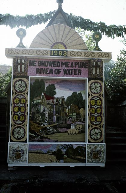 Well Dressing, Wormhill, Buxton, 1983