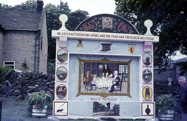 Well dressing, Eyam, Hope Valley, 1965