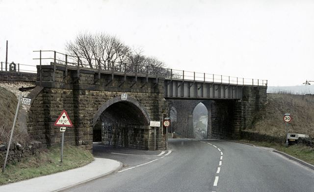 Railways bridge and viaduct, Hayfield Road, Chapel Milton, Chapel-en-le-Frith, c 1980s