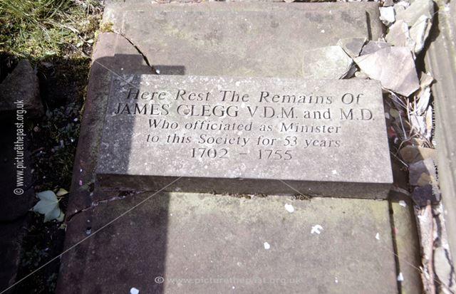 James Clegg's Tombstone, Chinley 'New' Chapel, off Hayfield Road, Chapel Milton, Chapel-en-le-Frith,
