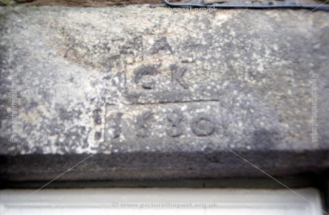 Inscription, Shireoaks, Chapel-en-le-Frith, High Peak, 1997