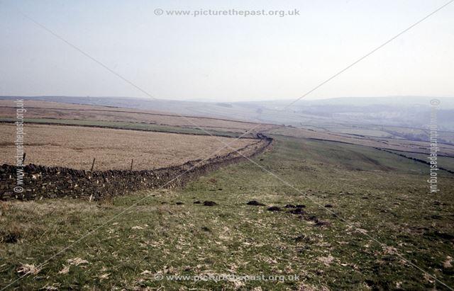 Old coach road, from near South Head, Chapel-en-le-Frith, High Peak, 1992