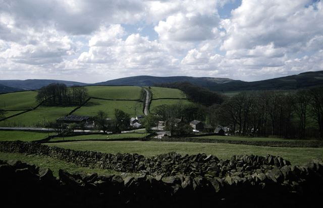 View of Slackhall and the Chestnut Centre, Chapel-en-le-Frith, High Peak, 1998
